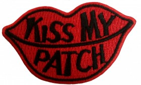 KISS MY PATCH Preto
