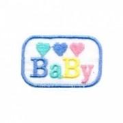3 CORAÇÕES BABY RETANGULO AZUL
